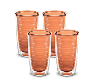 Tervis Clear & Colorful 4 Pack 16oz Tumbler Set, Cantaloupe