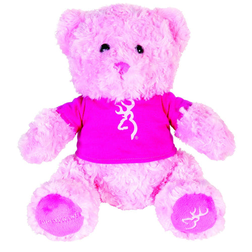 Browning Pink/Fuchsia Plush Soft Bear - Back40Trading2