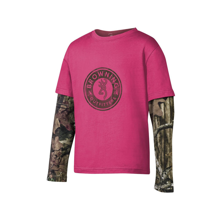 Browning Youth Girls Ryder T-shirt Fuchsia - Back40Trading2