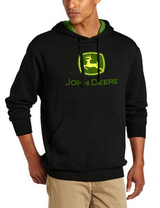 John Deere Men's Trademark Logo Core Hood Pullover Fleece - Back40Trading2  - 1