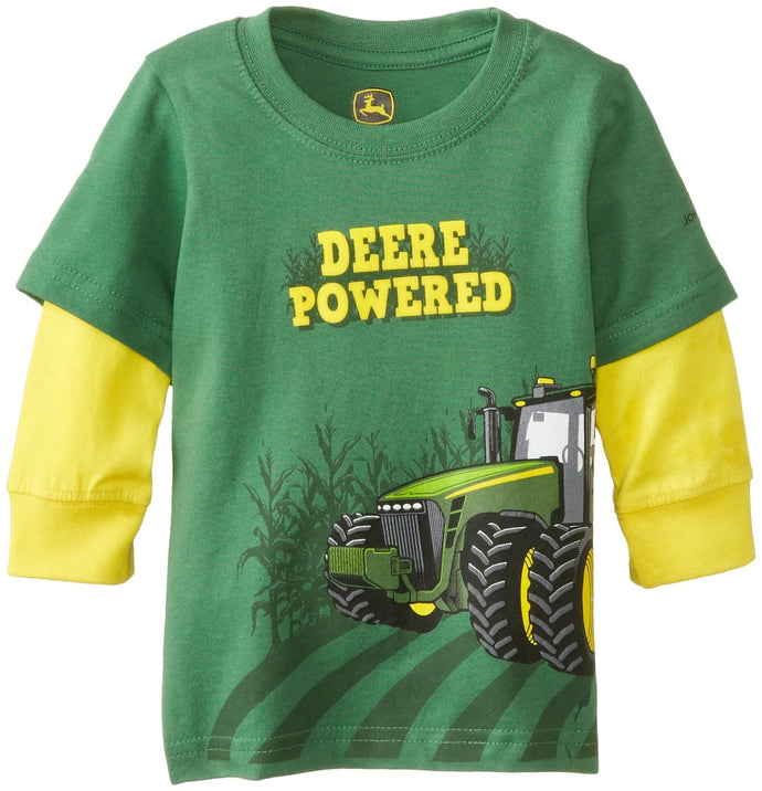 John Deere Baby Boys' Deere Powered Long Sleeve Tee - Back40Trading2  - 1