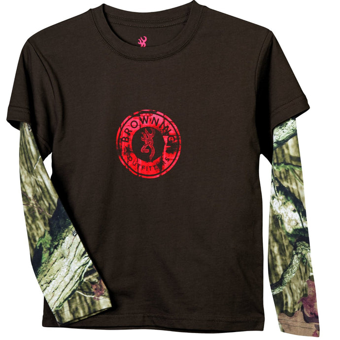 Browning Toddler Ryder Camo Long-Sleeved T-shirt - Back40Trading2