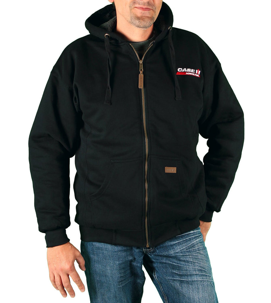 Case IH Men's Sherpa-Lined Embroidered Logo Hoodie