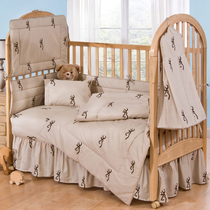 Browning Tan Buckmark - 6 Piece Crib Set includes - Back40Trading2