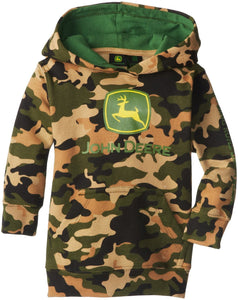 John Deere Little Boys' Trademark Fleece Pullover Hoodie, Camouflage - Back40Trading2