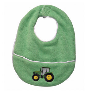 John Deere Pickles Baby Bib, Green Tractor (Discontinued by Manufacturer) - Back40Trading2