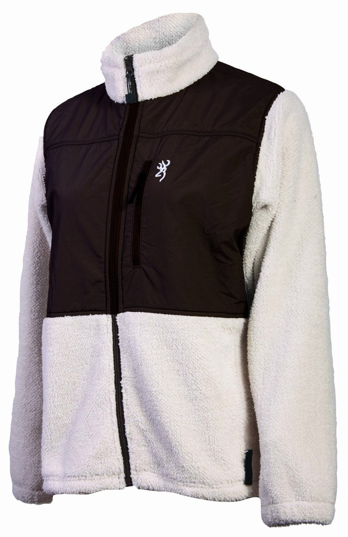 Browning Women's Zenith Fleece Jacket White - Back40Trading2