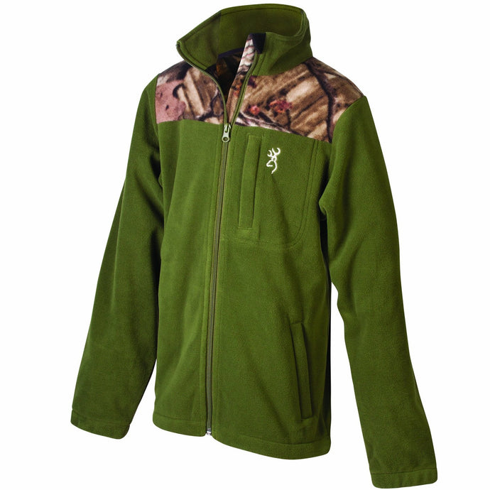 Browning Boy's Steep Fleece Jacket Moss - Back40Trading2