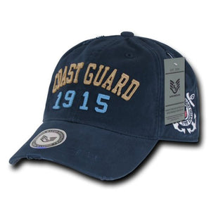 Rapiddominance Coast Guard Vintage Athletic Cap, Navy- back40trading2