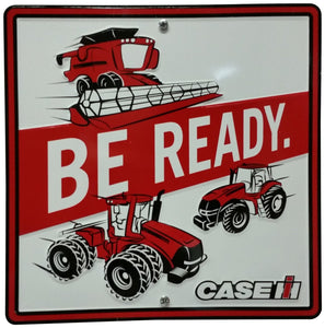 "S&D Case IH Be Ready Metal Sign, 12 by 12"" - Back40Trading2"