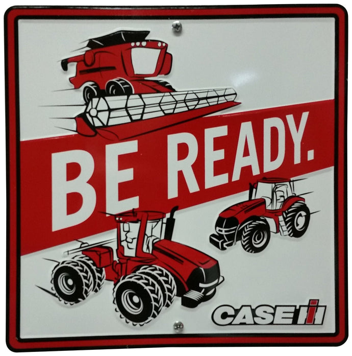 S&D Case IH Be Ready Metal Sign, 12 by 12