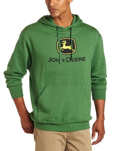 John Deere Men's Trademark Logo Core Hood Pullover Fleece - Back40Trading2  - 2