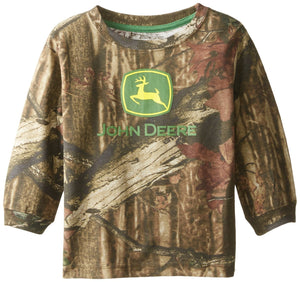John Deere Little Boys' Long Sleeve Trademark Tee Mossy Oak Toddler - Back40Trading2