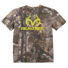 Realtree Men's Neon Green Logo Xtra® Camo Short Sleeved T-Shirt - Back40Trading2  - 1