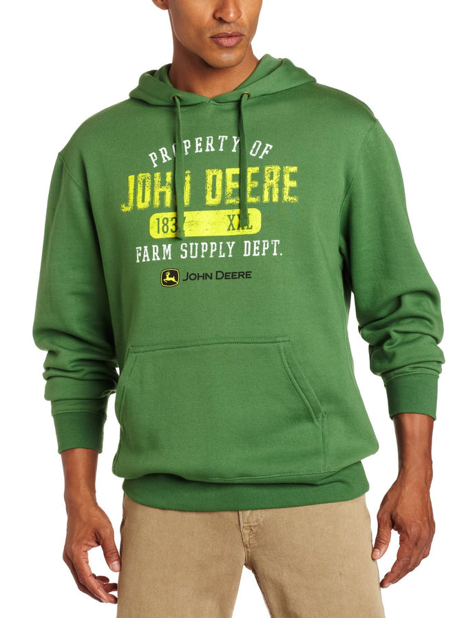 John Deere Men's Property Off Logo Core Hood Pull Over Fleece - Back40Trading2