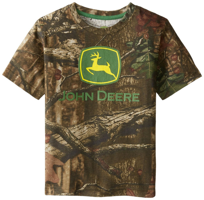 John Deere Little Boys' Short Sleeve Trademark Tee Mossy Oak Child - Back40Trading2