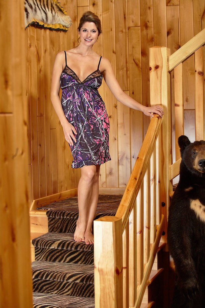 Muddy Girl Camo Chemise Lingerie Intimate
