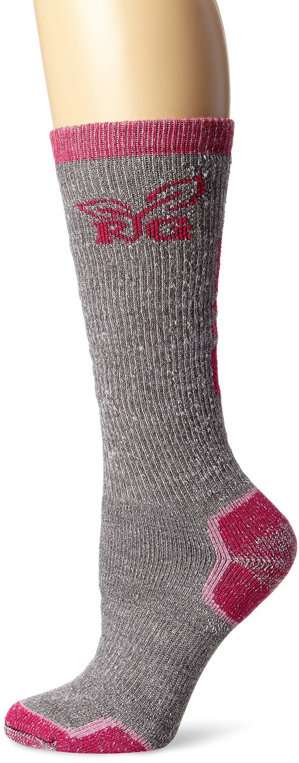 Realtree Girl Women's Wool Blend Tall Boot Socks (1-Pair), Grey, Medium - Back40Trading2