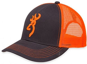 Browning Flashback Cap,Charcoal/Neon Orange- Back40Trading2