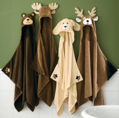 Yellow Lab Hooded Bath Towel