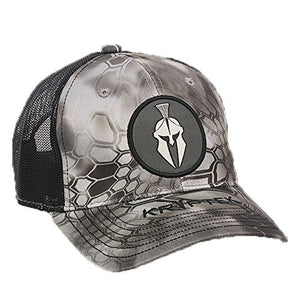 Kryptek Raid/Black Mesh Backed Round Patch Hat- Back40Trading2