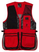 Browning Trapper Creek Shooting Vest-Red/Black