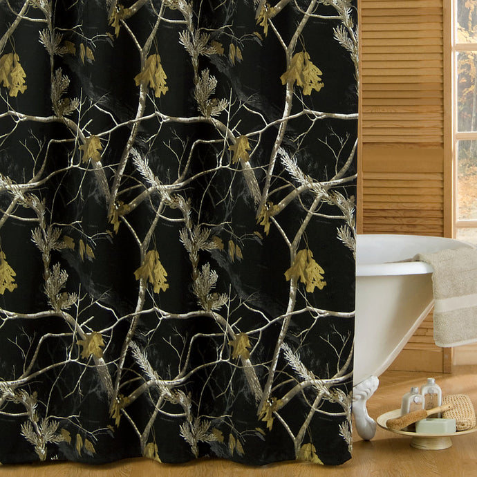 AP All Purpose Camo Black Shower Curtain - Back40Trading2