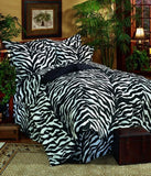 Kimlor Mills Karin Maki Zebra Complete Bed Set, King, Black - Back40Trading2