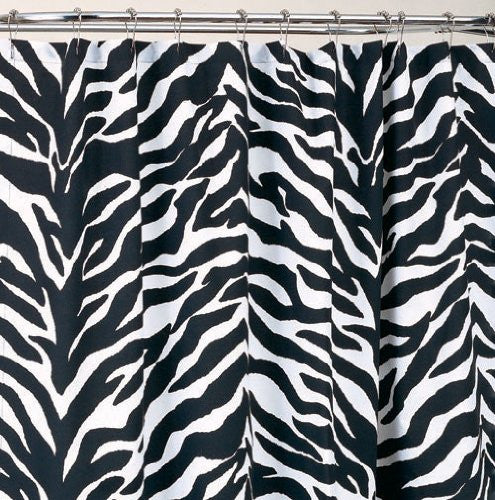 Kimlor Mills Karin Maki Zebra Shower Curtain, Black - Back40Trading2