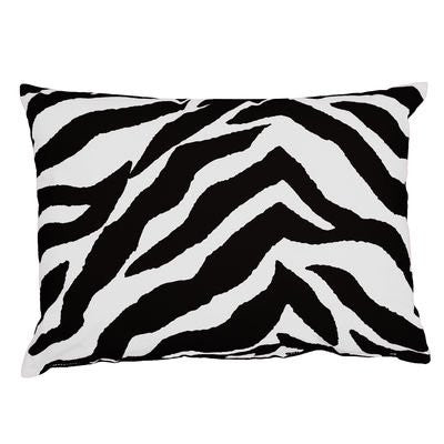Kimlor Mills Karin Maki Zebra Oblong Pillow, Black - Back40Trading2