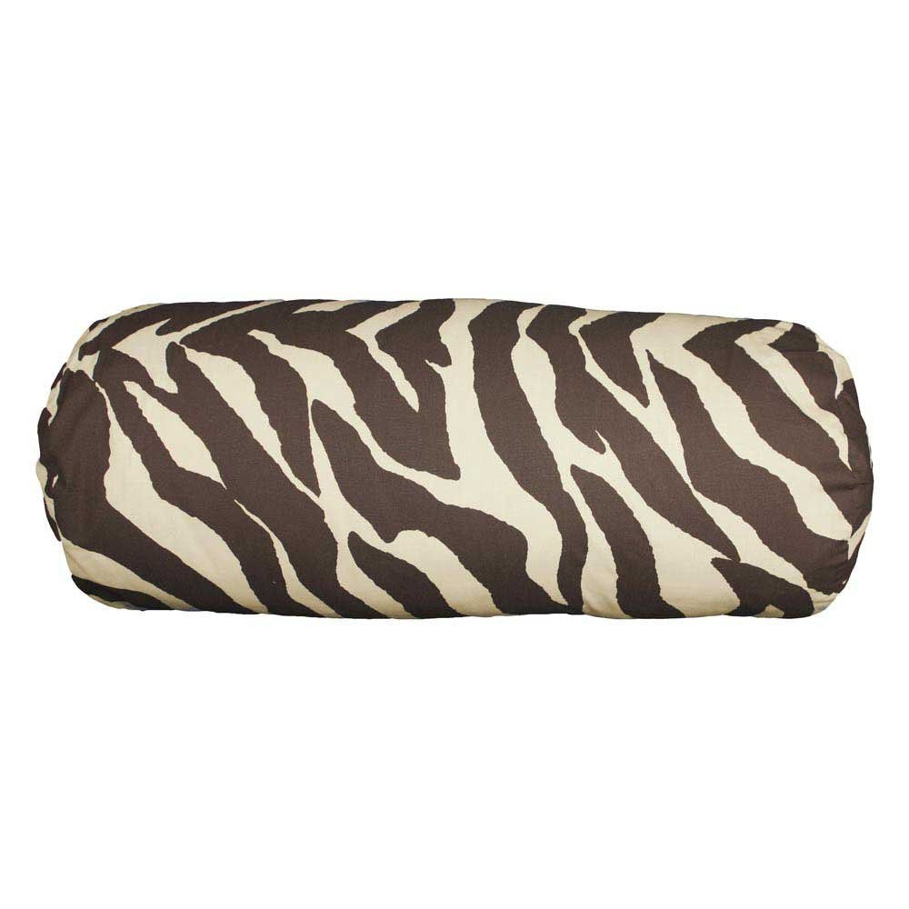 Karin Maki 07152200021KM Brown Zebra Bolster Pillow - Back40Trading2