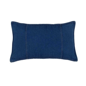 "Karin Maki Blue Denim Oblong Pillow - 14""x20"" - Back40Trading2"