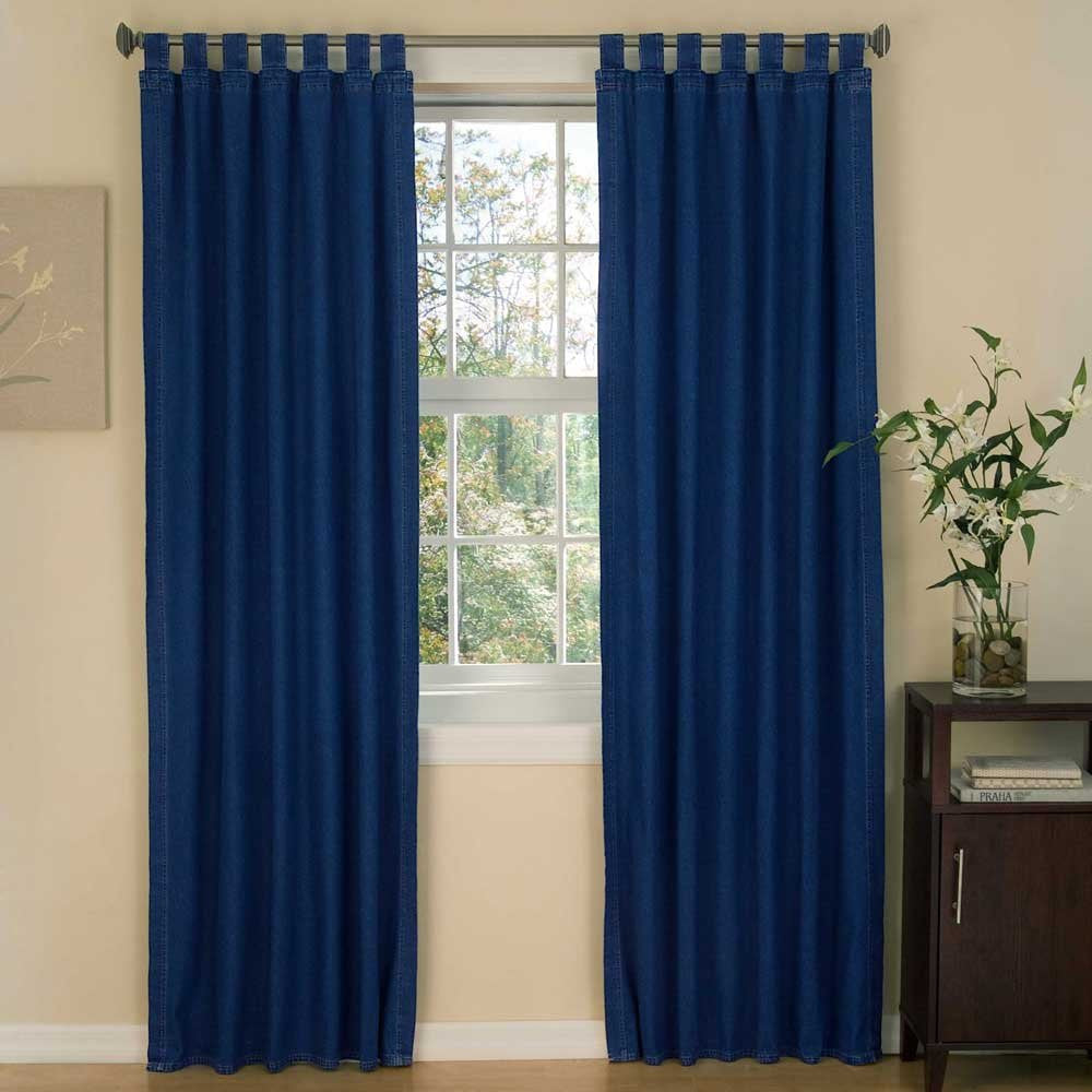 "Karin Maki American Denim Tab Top Drapes 2 Panels - Blue (40x84"")"