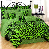 Lime Zebra 6 Piece Comforter Set Size: Full - Back40Trading2