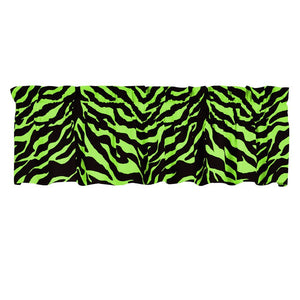 Lime Zebra Cotton Curtain Valance - Back40Trading2