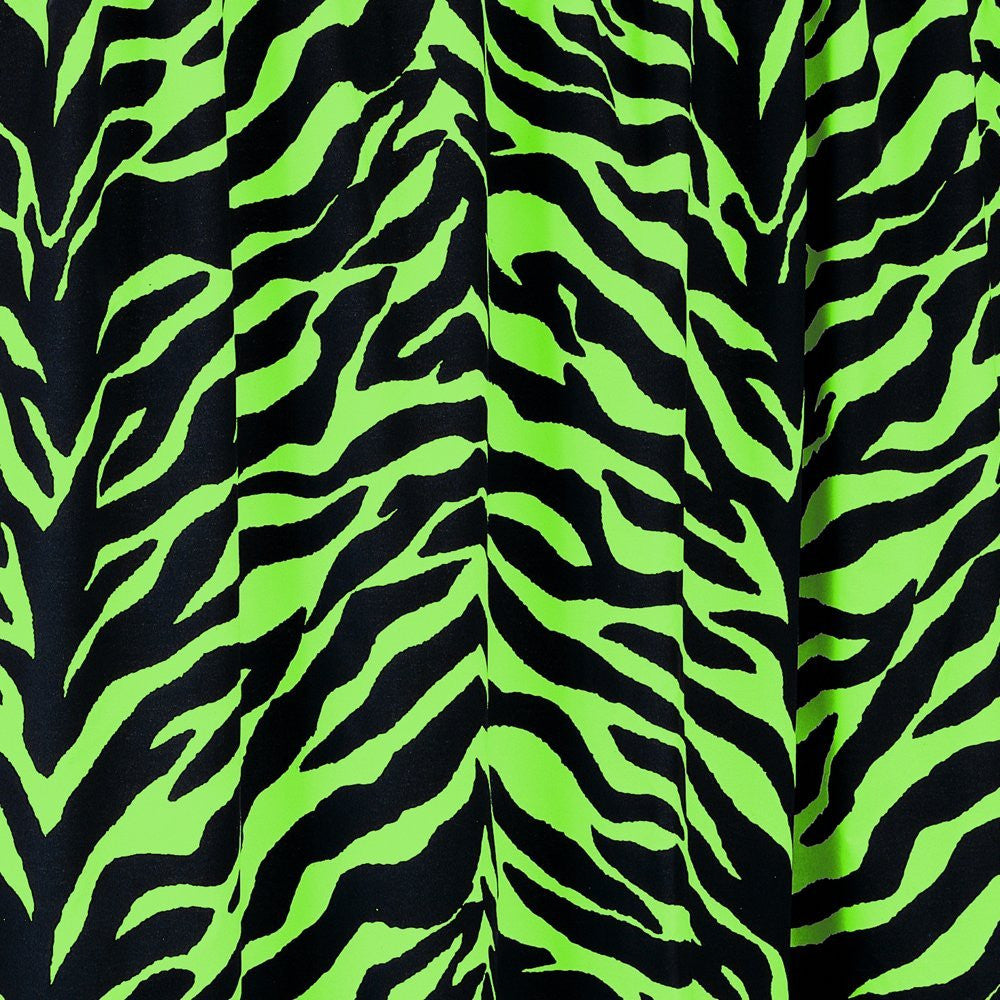 Zebra Cotton Blend Shower Curtain - Back40Trading2