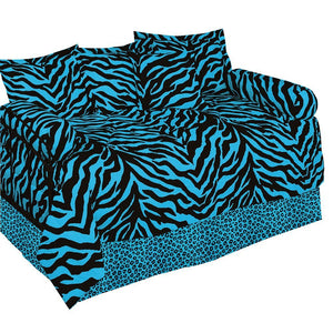 Kimlor Blue Zebra Daybed Cover Set - Back40Trading2
