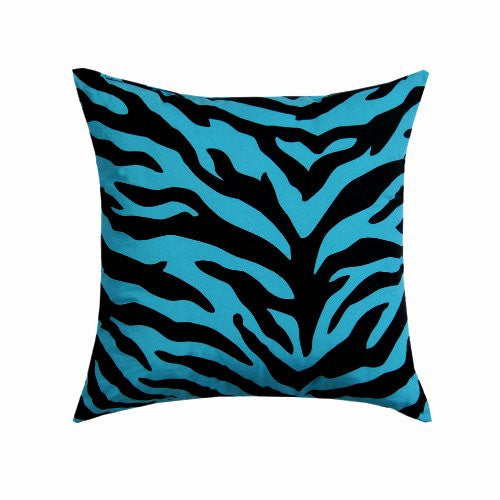 Blue Zebra Pillow - Square 18 x 18 - Back40Trading2