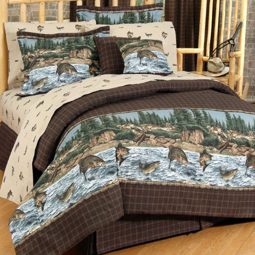 River Fishing Housewares and Bedding Size: Queen - Back40Trading2