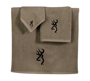 Buckmark Bath Towel Color: Brown / Tan - Back40Trading2