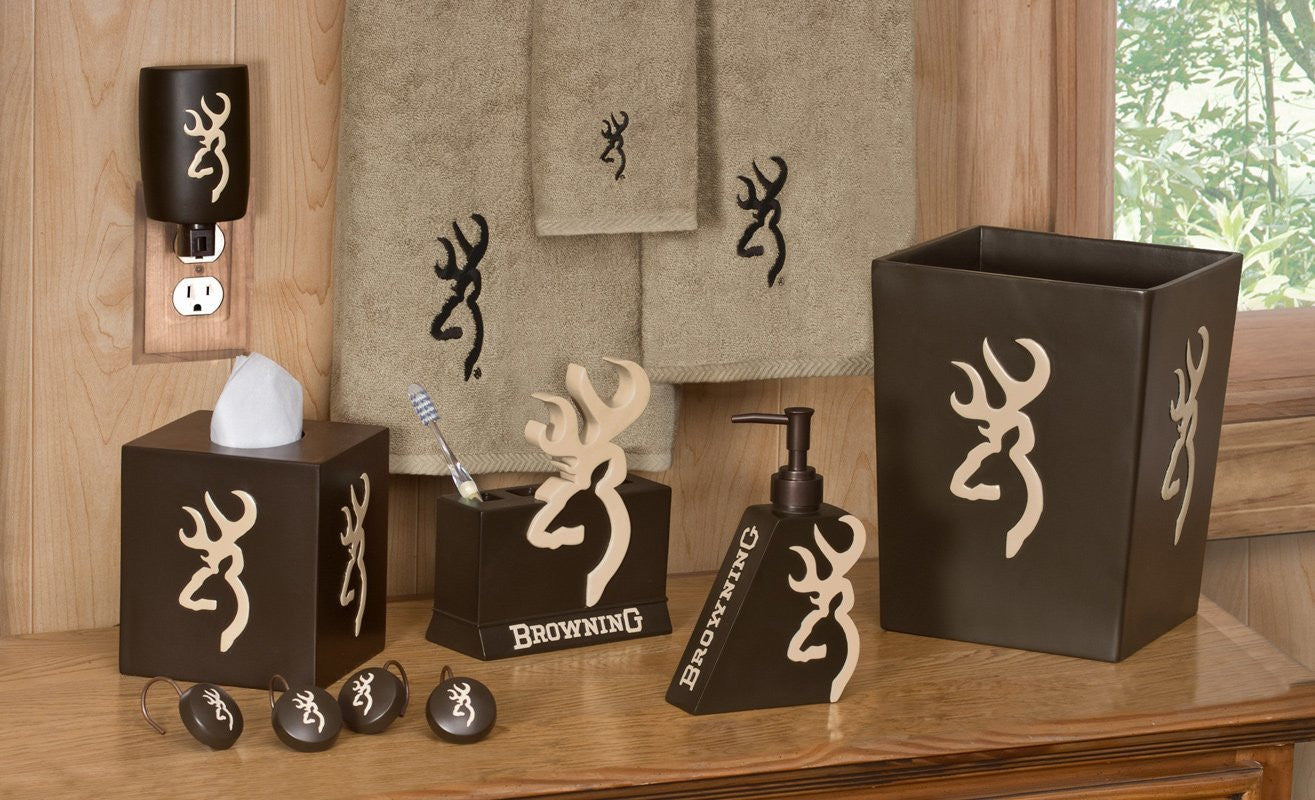 Buckmark Hand Towel Color: Brown / Tan - Back40Trading2