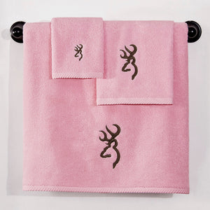 Browning Buckmark Bath Towel Pink - Back40Trading2