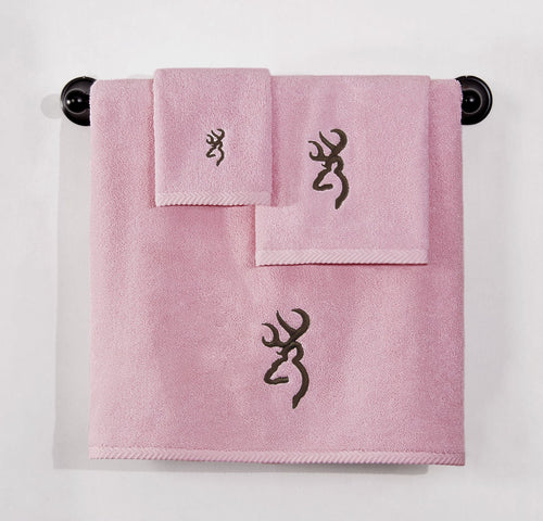 Browning Buckmark Wash Cloth Pink - Back40Trading2