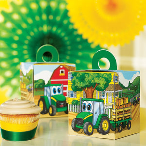 Party Destination Johnny Tractor Cupcake Boxes - Back40Trading2