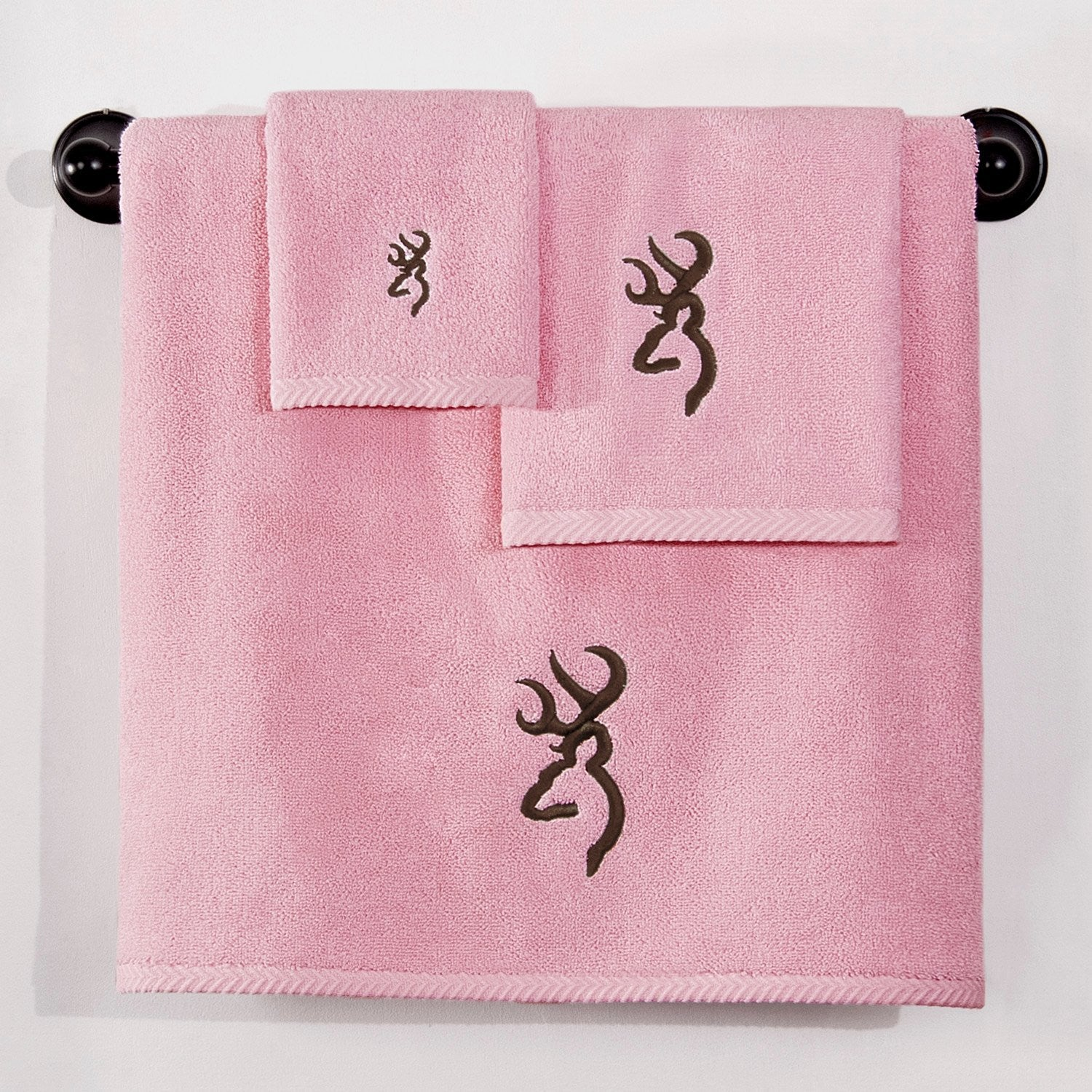 Browning Buckmark Hand Towel Pink - Back40Trading2