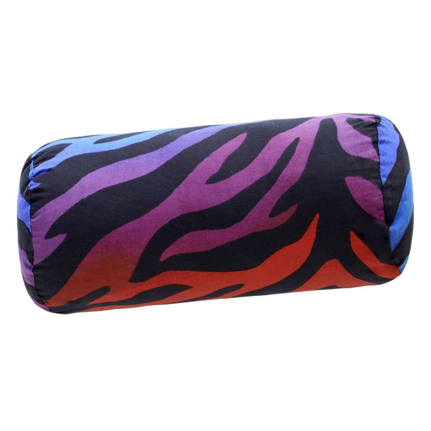 Zebra Rainbow Neckroll Pillow - Back40Trading2