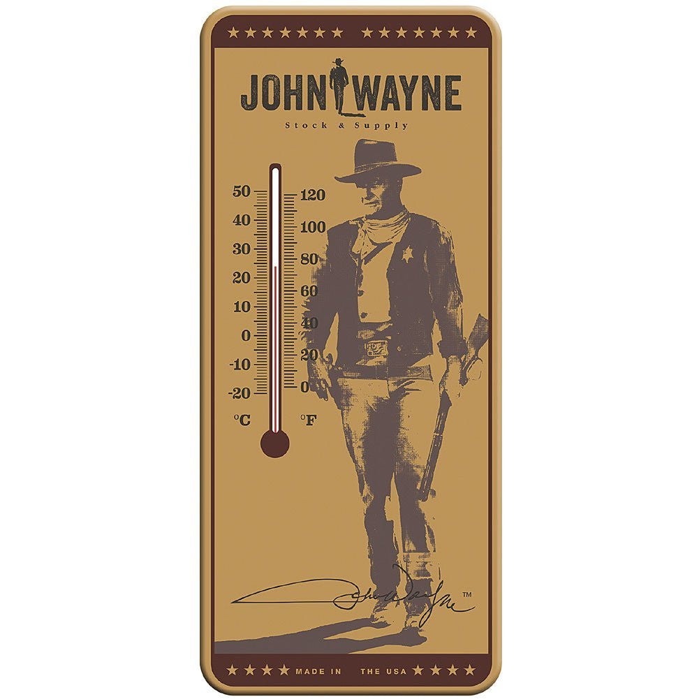 John Wayne Thermometer - The Duke Displays Temperature Celsius And Fahrenheit