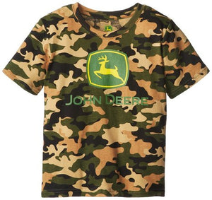 John Deere Little Boys' Front Chest Logo Short Sleeve Tee - Back40Trading2
