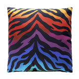 Zebra Rainbow Square Pillow - Back40Trading2