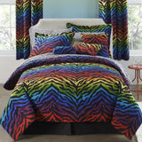 Zebra Rainbow Complete Bedding Set Full - Back40Trading2